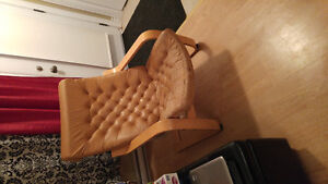 Vintage leather ikea chair with free table - SOLD PPU FRIDAY