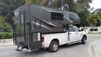 2012 LIVING LITE 2195LB ALL ALUMINUM 19' TRUCK CAMPER TOY HAULER