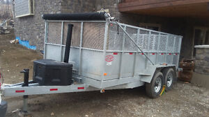 2015 EXTRA HEAVY DUTY dump trailer 8' x 14' Galvanized