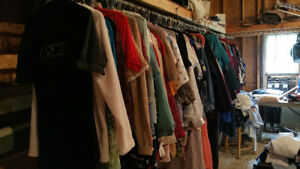 Huge amount of gently used clothing- most priced at 3.00 each