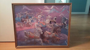 Merry go Round framed Puzzle
