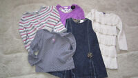 Girl's 5pcs set + 2 new tights 18-24 months