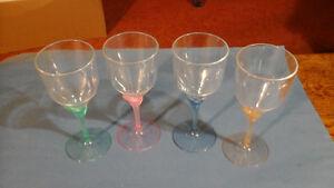 4 Acrylic Lily Goblets