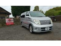 Nissan Elgrand 2.5 automatic 8 seater silver MPV day van fresh import 2006