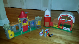Free to Someone in Need - Little People Castle and Barn