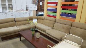 7 Pc. Retro Sofa at Cambridge ReStore