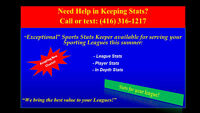 Need A Stats Keeper for your Spring or Summer League?