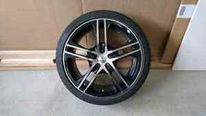 Set of 4 rims and ultra high performance tires