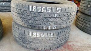 Pair of 2 Toyo Extensa AS 185/65R15 tires (60% tread life)