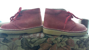 Leather Boots- Toddler size 23EU, Size 6 or 7 Red Suede