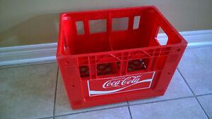 Vintage collectible heavy plastic 1980's Coca Cola crate London Ontario image 1