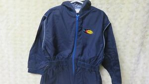 Boys One Piece Authentic Basic Rain Suit Navy Size 3-4 Years