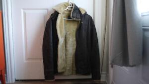 Manteau Cruze en cuir pour homme