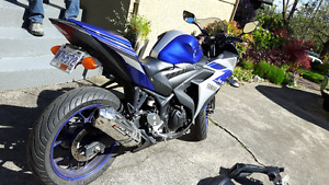 Excellent Yamaha Sport bike R3 with Upgrades