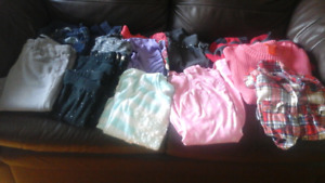Lot of Girls' size 10-12 clothes