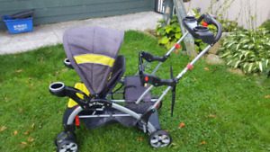 sit n stand ultra double stroller