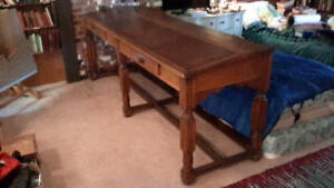 Antique library table - architects desk