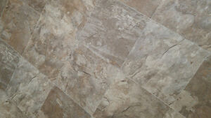Vinyl Sheet Remnants - Beautiful and Durable Stone Tile Look