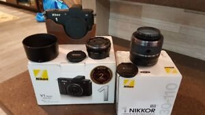 Great condition Nikon V1 with 30-110 mm F3.8-5.6 VR  & 10mm f2.8