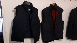 Two Canada Goose style insulated vest. SizeBlue 38. Black 40-42.