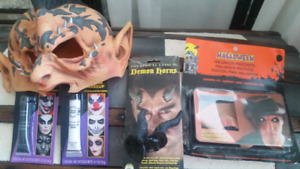 NEW Halloween Costume Devil Demon Mask Make-up Horns Prosthetics