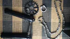 Crank,w/chainring,izumi chain and seatpost clamp