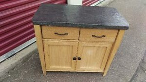 Small Concrete Two-Drawer Cabinet Unit