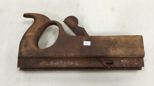 ANTIQUE 1800'S SIGNED RABBET  WOOD PLANE