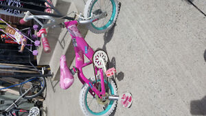 $30 for the barbie bike and 15 for the raleigh