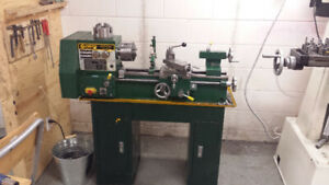 Gear head lathe with tooling and stand