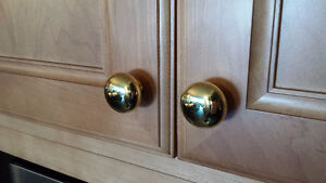 SOLID BRASS CLASSIC KNOBS - ONLY 20 AVAILABLE - $3