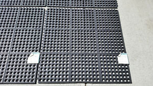 Commercial Rubber Mats. Set of 4