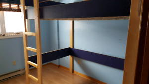 Loft bed with upper storage cubby... SOLD PENDING PICKUP