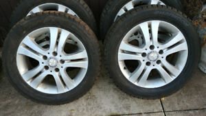 Set of 4 snow tires and rims