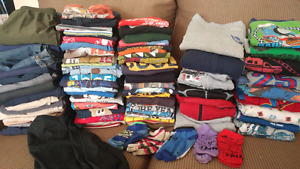 Huge Lot of Boys Size 5 Clothes