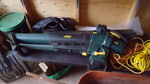 FOR SALE: LEAF BLOWER /VACUUM, WITH BAG, 12A