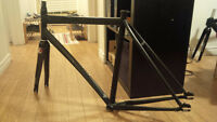 Aluminium trek frame, Leader carbon fork, (livraison possible)