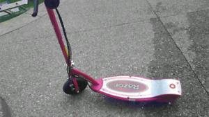 Girls Childrens Razor Electric Scooter for Kids Pink