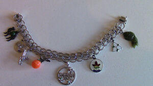REDUCED Sterling Silver Charm Bracelet with 8 Charms