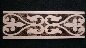 """HIGH QUALITY 4"""" x 12"""" MARBLE WATER JET CUT MOSAIC BORDER"""