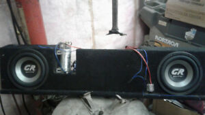 10in subs amp and sub box and kicker
