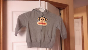 Price drop! Paul Frank grey heather hoody-size 24 months