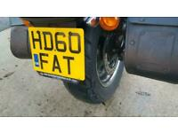 2010 60 HARLEY DAVIDSON FXDF FAT BOB 1584 10MY CHOPPER CRUISER BLACK EXTRAS