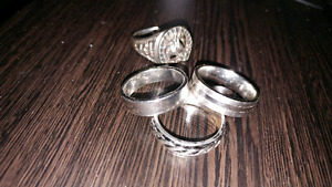 Mens silver rings size 10