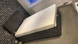 Small double bed with new mattress