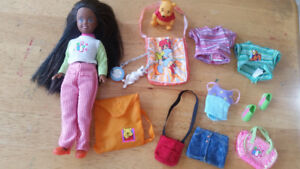 Kelly doll and friends