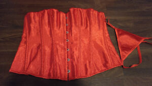 Over bust corset, red size XXL