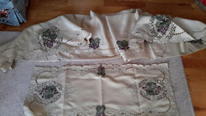 New in Original Bag, Grape Vine Tablecloth and Runner
