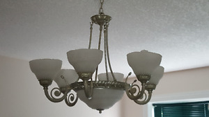 Ceiling Light - glass and metal
