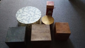 6 Assorted gift or storage boxes